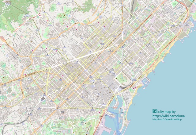 image about Printable Wiki known as Barcelona maps Wiki Barcelona